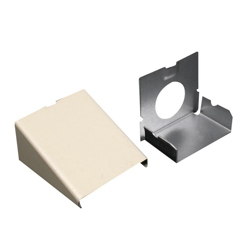 Wiremold V2410A Entrance End Fitting Steel Ivory For Use With 2400® Series Dual-Channel Raceway