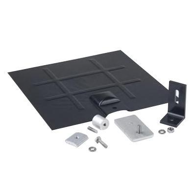 Snapnrck 242-92050 6000 Series Anodized Aluminum L Foot Flashing Kit Clear (L) Foot Black Galv Flashing and Base Kit