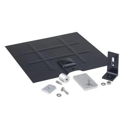 Snapnrck 242-92051 6000 Series Anodized Aluminum L Foot Flashing Kit Black (L) Foot and Galv Flashing and Base Kit