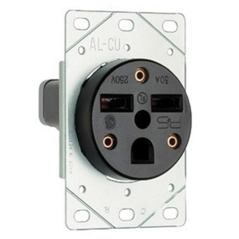 Pass  U0026 Seymour 3801 Straight Blade Power Outlet Receptacle