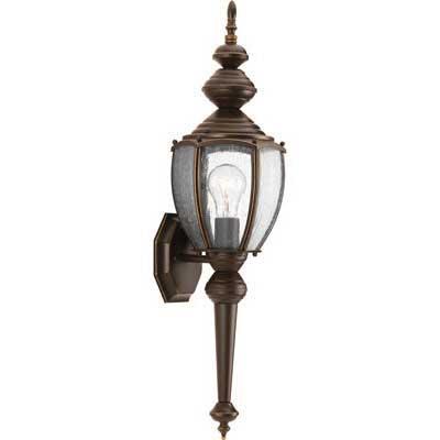 Progress Lighting P5767-20 1-Light Wall Lantern 100 Watt 120 Volt 7 Inch Antique Bronze Roman Coach