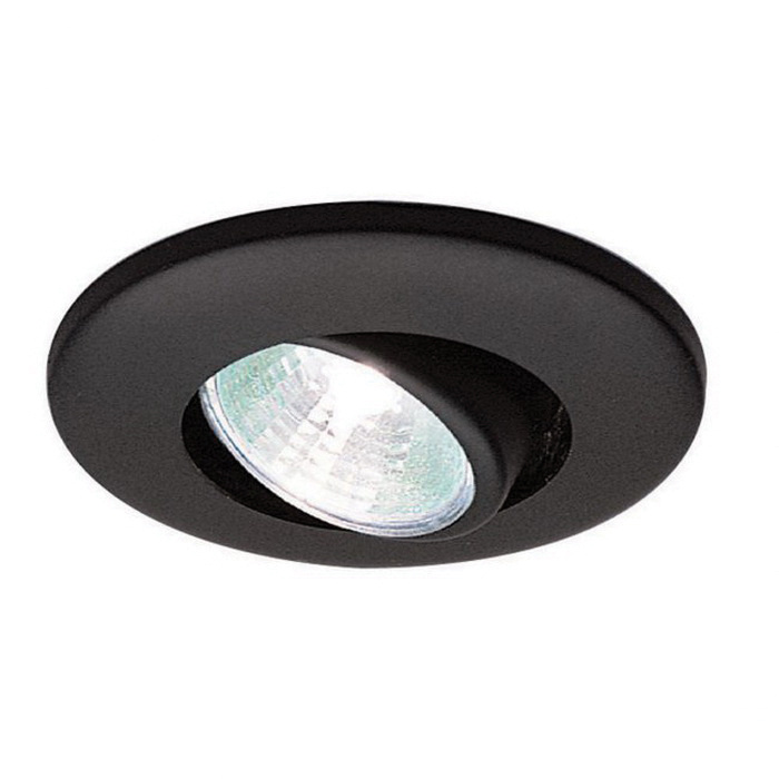 new product 882bb f0089 WAC Lighting HR-1137-BK Low Voltage Miniature Adjustable Recessed Down  Light 12-Volt AC Black