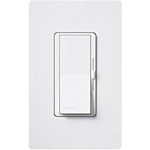 Lutron DVLV-103P-WH 120 Volt at 60 Hz 1-Pole Magnetic Low Voltage 3-Way Preset Dimmer With Locator Light White Diva®