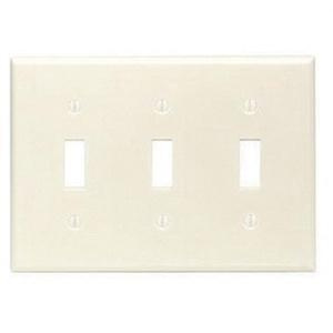 Leviton 78011 Thermoset Device Mount Standard Size 3 Gang Toggle Switch Wallplate