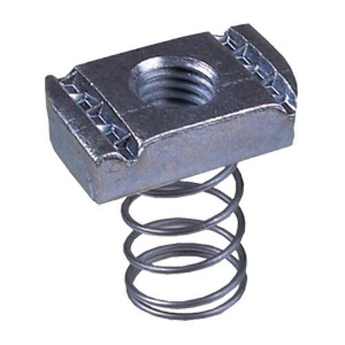 Unistrut UC10083/8EG Electrogalvanized Channel Nut With Spring 3/8 Inch