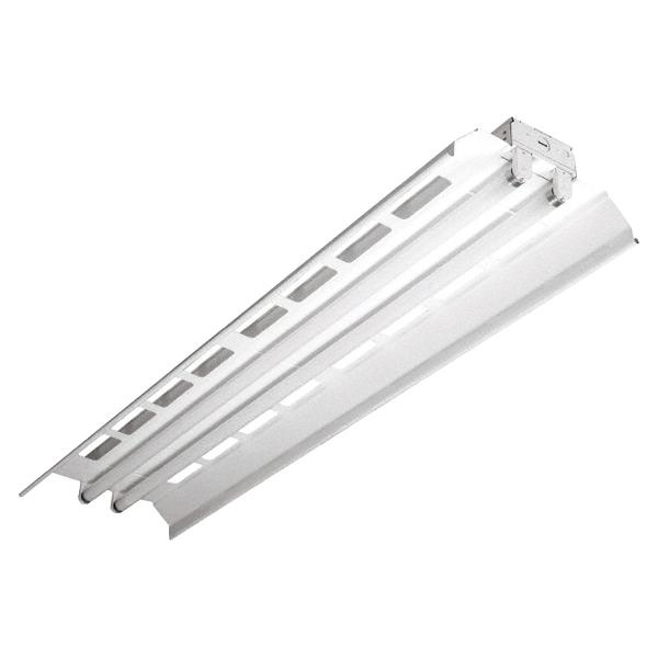 Cooper Lighting ICF-2-32-UNV-HB81L-U 2-Light Ceiling Mount ICF Series Light-Duty Industrial Fluorescent High Bay Fixture 32 Watt 120 - 277 Volt Baked White Enamel Metalux™