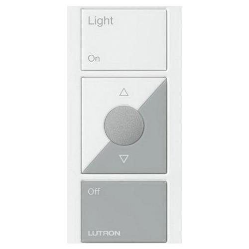 Lutron Pj2 3brl Gwh L01 3 Volt 3 Button With Raise Lower