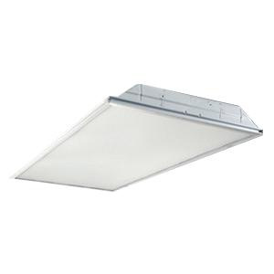 Cooper Lighting 22GR-LD4-24-F1-UNV-L835-CD1-U Ceiling Mount Standard LED Troffer 23 Watt 120 - 277 Volt 24 Volt DC Driver 85 CRI 3500K 2400 Lumens LED Reflective White Enamel Metalux™ GRLED