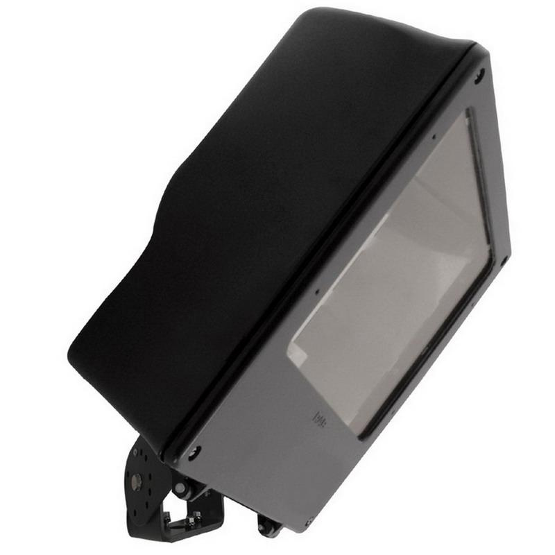 Rab MEGH400PSQ Mega Series HID Metal Halide Flood Light Fixture 400 Watt 120 - 277 Volt Trunnion Mount Bronze