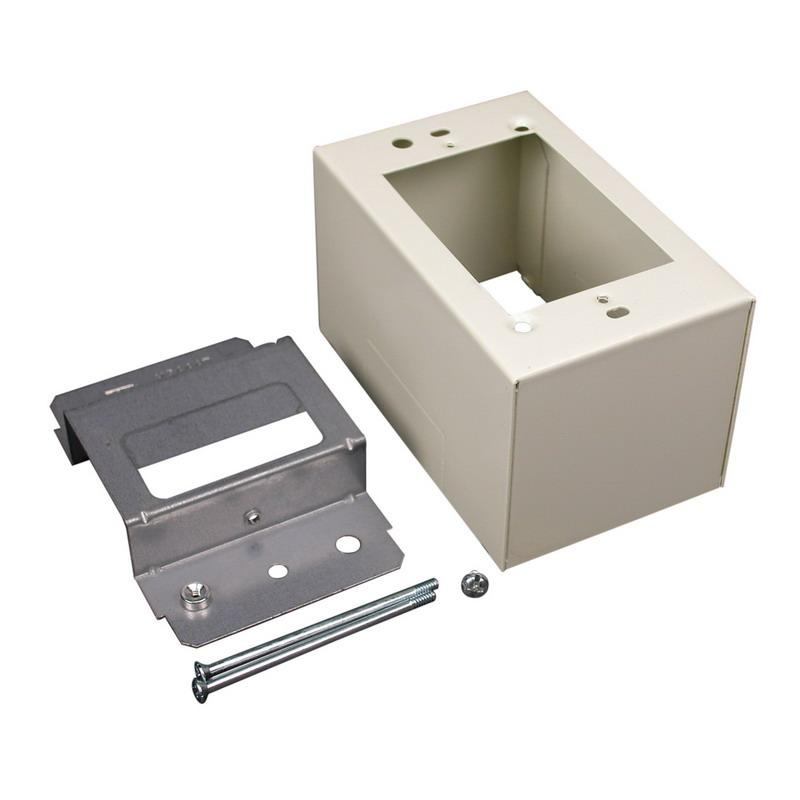 Wiremold V2444D Device Box Fitting Steel Ivory For Use With 2400® Series Dual-Channel Raceway