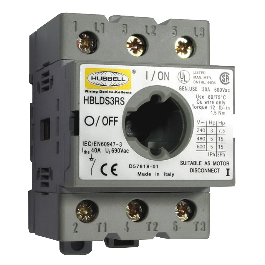 Hubbell Wiring Hblds3rs Phase Non Fusible Replacement