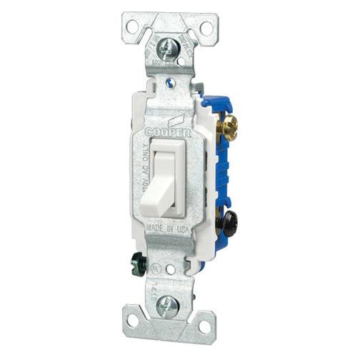 cooper wiring device 1301-7w 120-volt ac 15-amp 1-pole