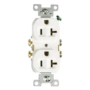 Cooper Wiring Device CR20W Commercial Grade Straight Blade Duplex ...
