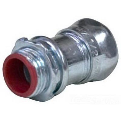 Topaz Electric 652SI Zinc Plated Steel Insulated EMT Compression Connector 3/4 Inch