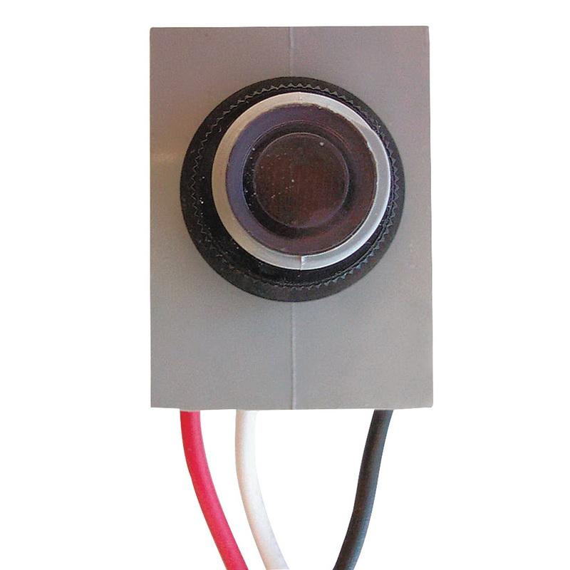 Intermatic K4023C Button Thermal Fixed Mount Photocontrol 208 - 277 Volt AC SPST Gray