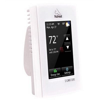 Pentair AC0055 7-Day Programmable Floor Heating Thermostat 120/240-Volt AC  High Gloss White Frame Signature