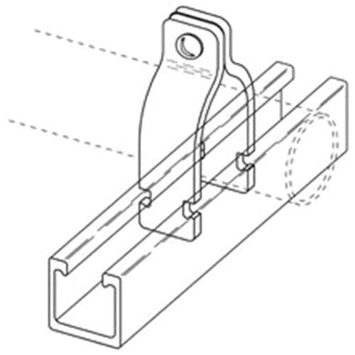 b-line bfv2017 glass reinforced ppo non-metallic pipe clamp 4-inch