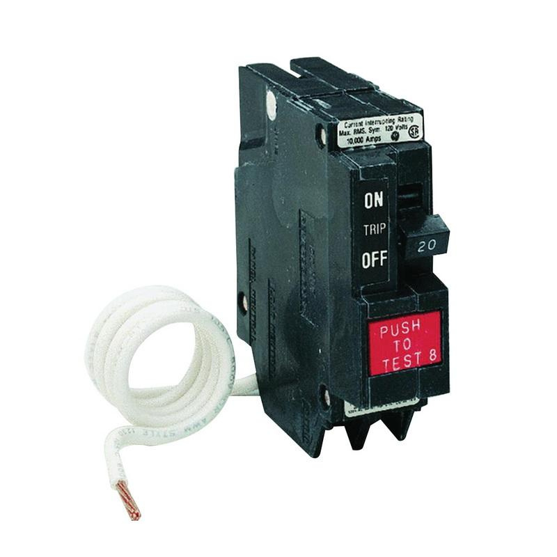 GE Industrial THQL1120GF Plug-In Mount Type THQL Feeder Ground Fault Circuit Breaker 1-Pole 20 Amp 120 Volt AC