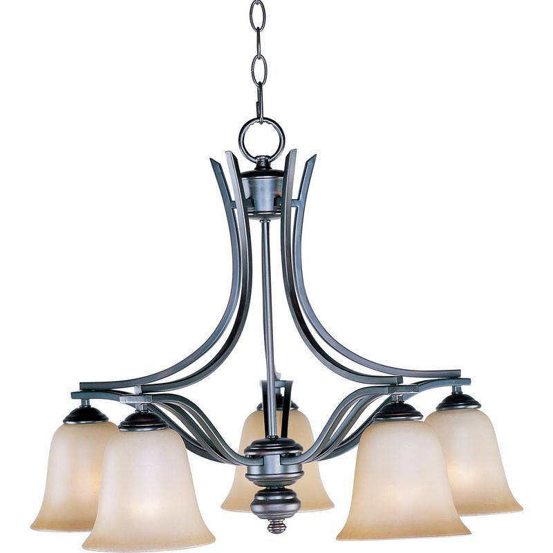 Maxim Lighting 10176WSOI 5-Light Chandelier 100 Watt 120 Volt Oil Rubbed Bronze Madera