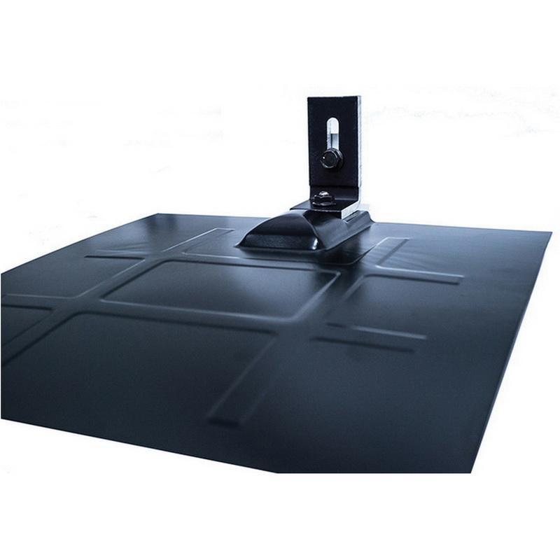 Snapnrck 242-02701 6000 Series Anodized Aluminum Bonding L Foot Flashing Kit With Base Galvanized Flashing Black L Foot and Flashing