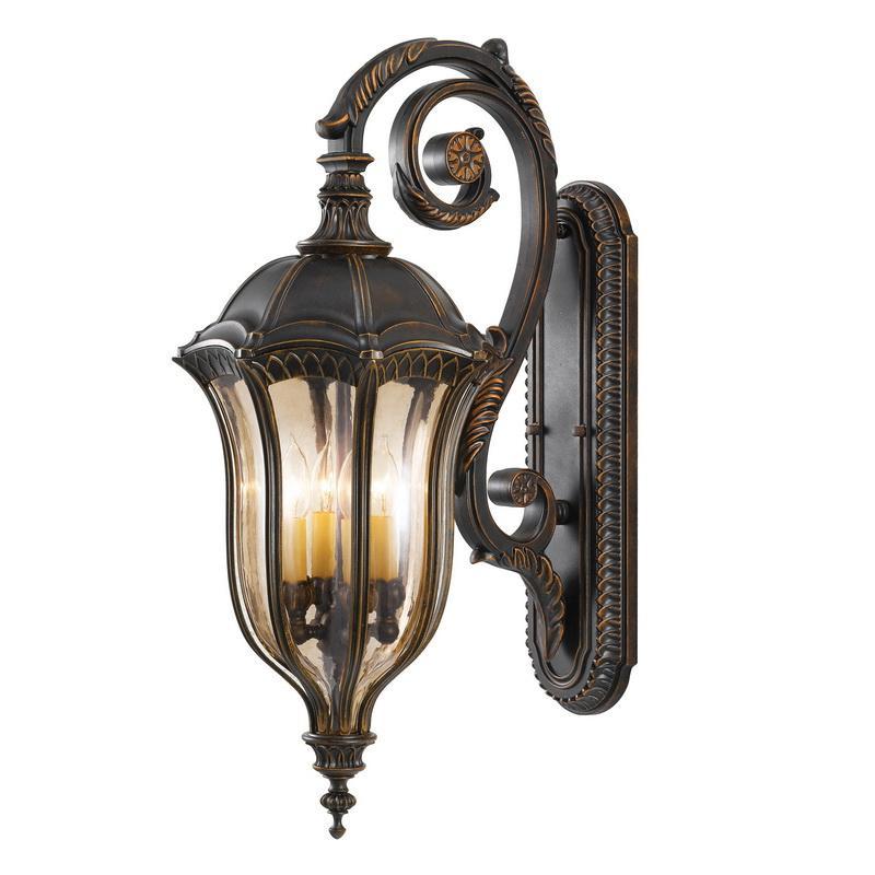 Murfeiss OL6004WAL 4-Light Outdoor Wall Lantern 60 Watt 120 Volt Walnut Baton Rouge