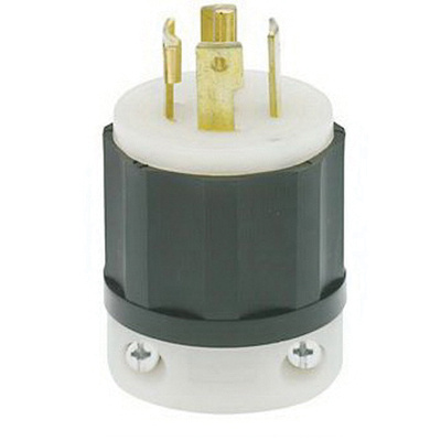 leviton 2831 5 wire 4 pole industrial grade locking plug. Black Bedroom Furniture Sets. Home Design Ideas