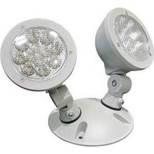 Lithonia Lighting ELA-T-QWP-L0304-M12 Box Mount Adjustable 2-Head LED Remote Emergency Light Fixture 1.5 Watt 9.6 Volt DC Gray Quantum®