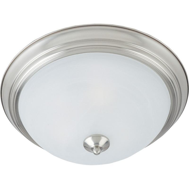 Maxim Lighting 5842MRSN 3-Light Flush Mount Ceiling Fixture 60 Watt 120 Volt Satin Nickel Essentials - 584x