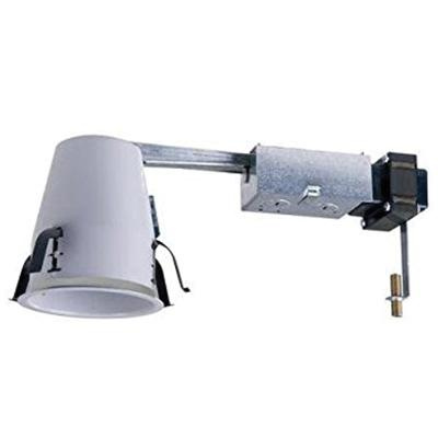 new style 3dc4a 6481b Cooper Lighting ET400LVRAT Small Aperture Low Voltage Non-IC Air-Tight  4-Inch Recessed Remodel Housing 120-Volt 12-Volt Lamp Round White Powder  Coated ...