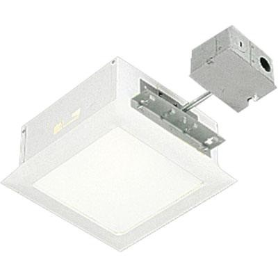 Progress Lighting P6416 30tg Non Ic 10 Inch Square Recessed Complete Housing With Trim 1 Light White