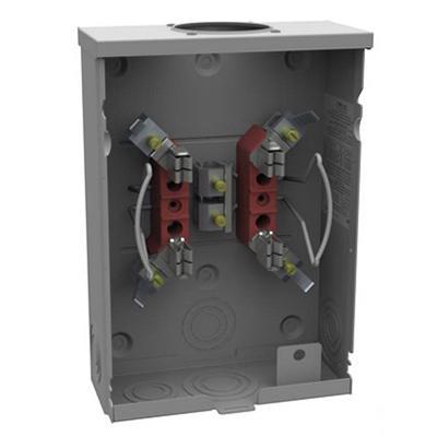 Milbank U7487-RL-KK-BL 1-Phase Ringless Meter Socket With Horn Bypass 4 Jaw  1-Position 125-Amp