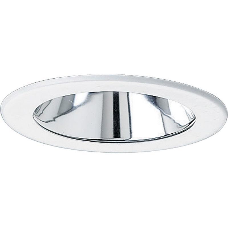 Progress Lighting P8043-21 IC/Non-IC 4 Inch Round Recessed Specular Cone Trim 1-Light Clear Alzak