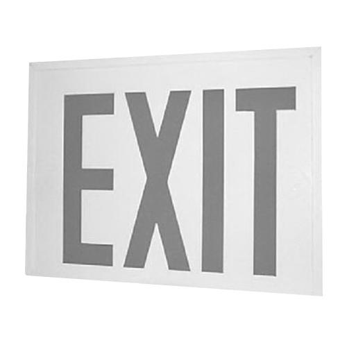 Encore Lighting Lse 8sru Series Self Ed Led Exit Sign White Powder Coated Housing Red Letter 120 277 Volt