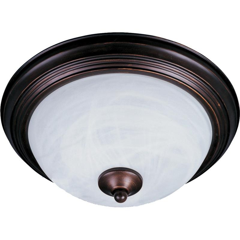 Maxim Lighting 5840MROI 1-Light Flush Mount Ceiling Fixture 60 Watt 120 Volt Oil Rubbed Bronze Essentials - 584x