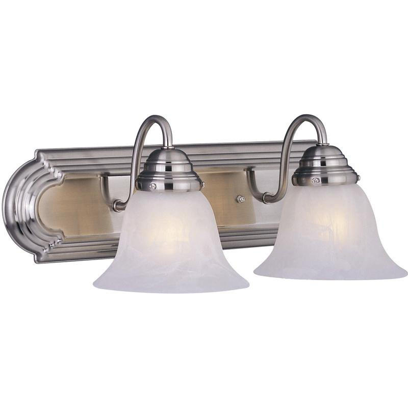 Maxim Lighting 8012MRSN 2-Light Classic Up/Down Mount Bath and Vanity Fixture 100 Watt 120 Volt Satin Nickel Essentials Series