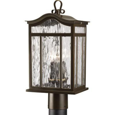 Progress Lighting P5468-108 3-Light Post Lantern 60 Watt 120 Volt Oil Rubbed Bronze Painted Meadowlark