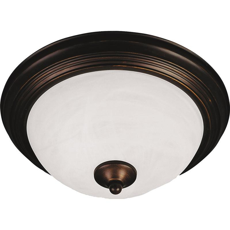 Maxim Lighting 5841MROI 2-Light Flush Mount Ceiling Fixture 60 Watt 120 Volt Oil Rubbed Bronze Essentials - 584x