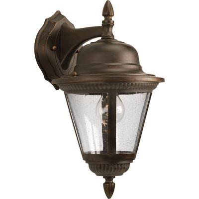 Progress Lighting P5863-20 1-Light Wall Lantern 100 Watt 120 Volt Antique Bronze Powder Coated Westport
