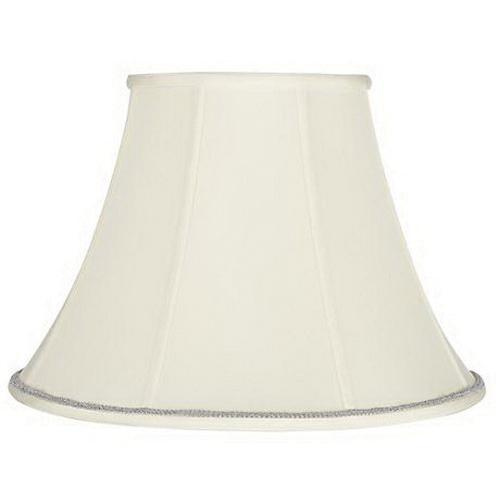 9x18x13 cream bell lamp shade with silver scroll trim 9 inch x 18 9x18x13 cream bell lamp shade with silver scroll trim 9 inch x 18 inch x aloadofball Image collections