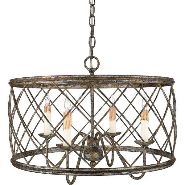 Quoizel Lighting Rdy2821cs 4 Light Pendant Fixture 240 Watt 120 Volt Ac Century Silver Leaf Dury