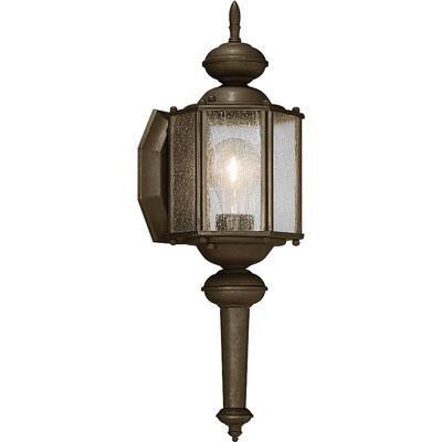 Progress Lighting P5773-20 1-Light Wall Lantern 100 Watt 120 Volt Antique Bronze Painted Roman Coach