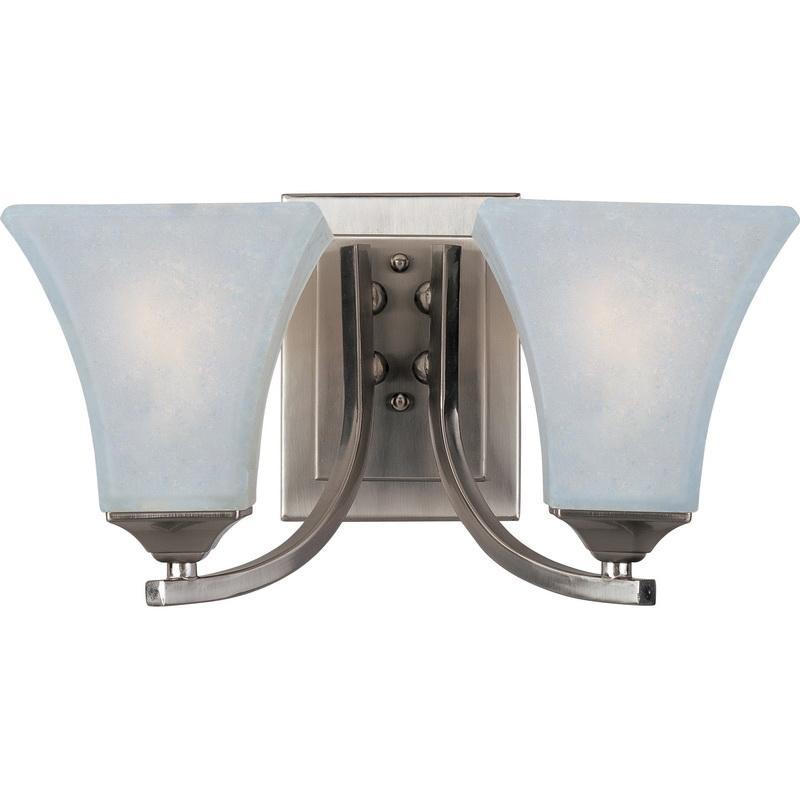 Maxim Lighting 20099FTSN 2-Light Modern Up/Down Mount Bath and Vanity Fixture 100 Watt 120 Volt Satin Nickel Aurora