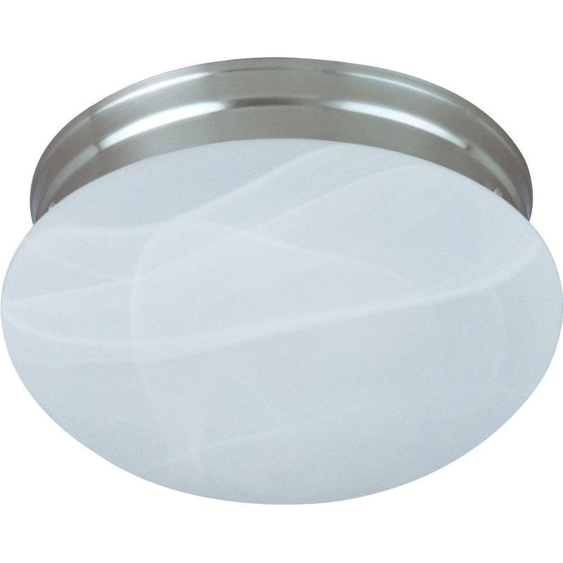 Maxim Lighting 5885MRSN 2-Light Flush Mount Ceiling Fixture 60 Watt 120 Volt Satin Nickel Essentials - 588x