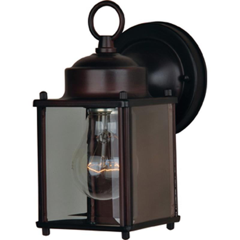Maxim Lighting 6879CLOI 1-Light Outdoor Wall Mount Fixture 60 Watt 120 Volt Oil Rubbed Bronze Side Door