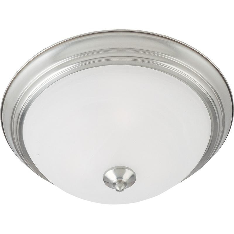 Maxim Lighting 5841MRSN 2-Light Flush Mount Ceiling Fixture 60 Watt 120 Volt Satin Nickel Essentials - 584x