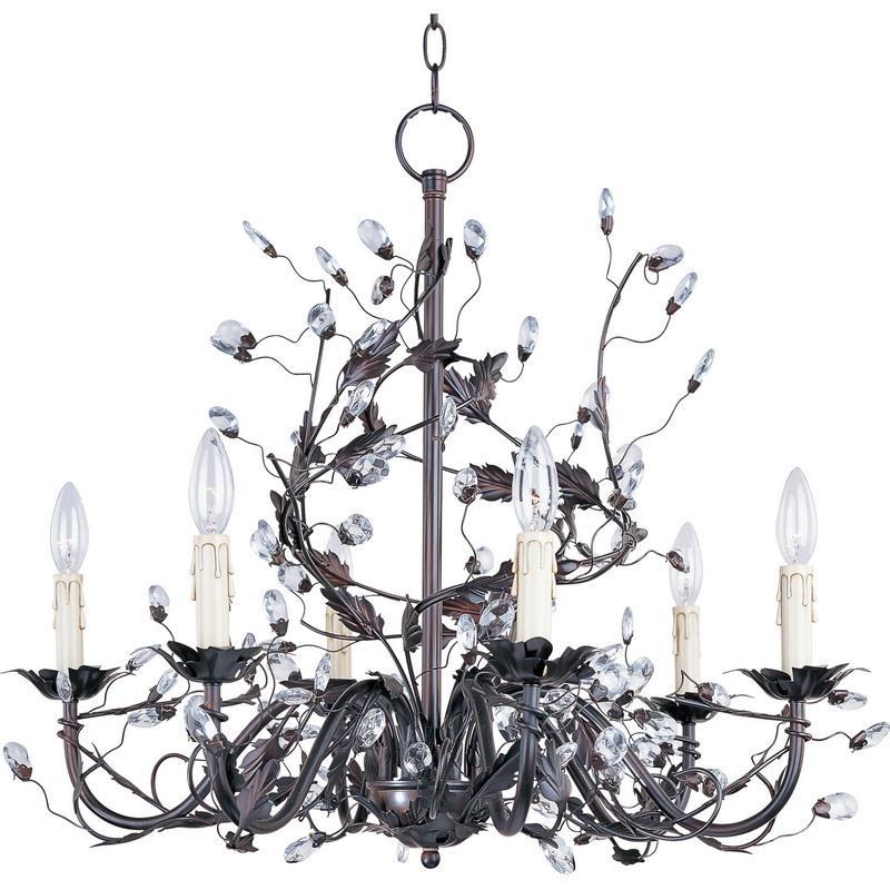 Maxim Lighting 2851OI 6-Light Single Tier Chandelier 60 Watt 120 Volt Oil Rubbed Bronze Elegante