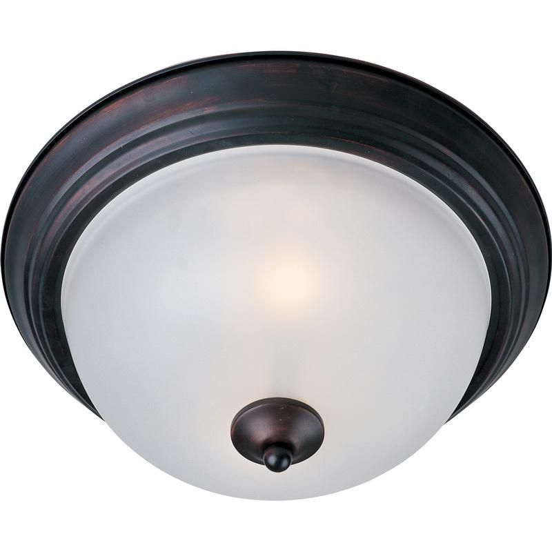 Maxim Lighting 5840FTOI 1-Light Flush Mount Ceiling Fixture 60 Watt 120 Volt Oil Rubbed Bronze Essentials - 584x