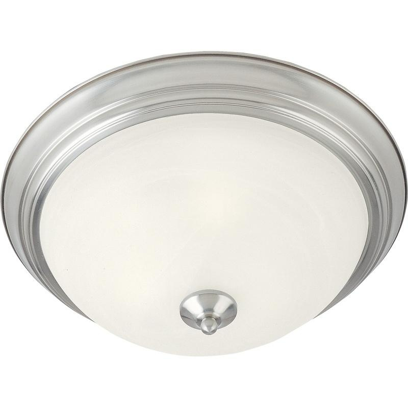 Maxim Lighting 5840MRSN 1-Light Flush Mount Ceiling Fixture 60 Watt 120 Volt Satin Nickel Essentials - 584x