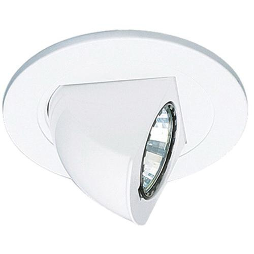 Elco Lighting EL1497W Low Voltage 4 Inch Adjustable Pull Down Trim Round All White