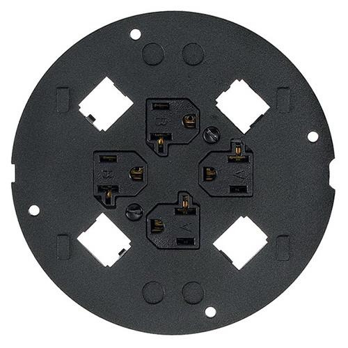 Hubbell Wiring S1sp4x4pa Powder Coated Cast Aluminum Sub